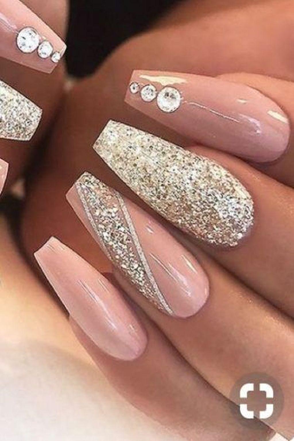 Lovely Glitter Nail Art Designs Ideas 2020 In 2020 Long Acrylic Nails Pretty Acrylic Nails Stylish Nails