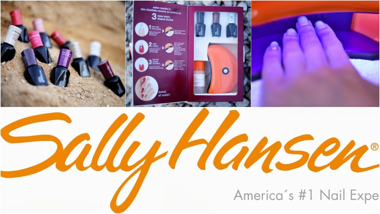 Sally Hansen Salon Gel Polish Postup A Recenze Gel Lak Sally Hansen Youtube