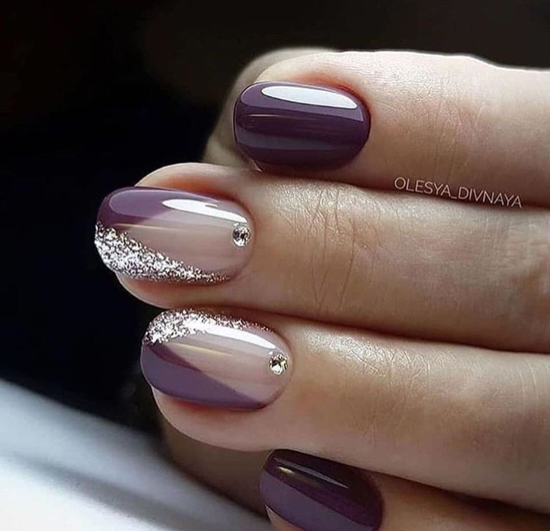 Pin By Jana On Unas Purple Nail Art Nail Designs Purple Nails