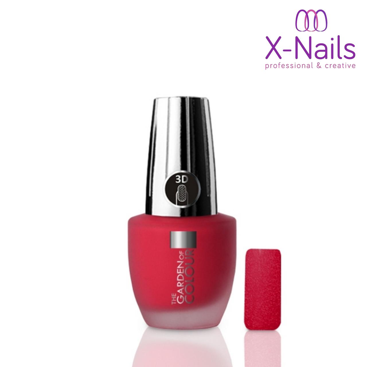 X Nails Lak Na Nehty 15 Ml 3d Piskovy Efekt 116 Sandy In Red