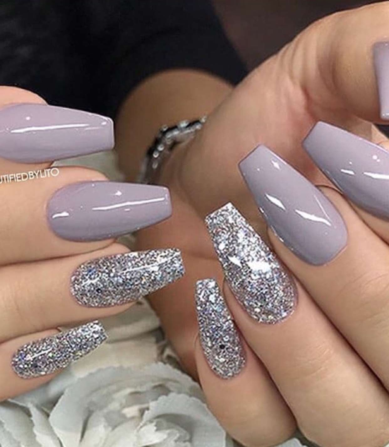 51 Design Color Nails For Winter You Must Follow Vanocni Akrylove Nehty Ruzove Nehty Dlouhe Nehty