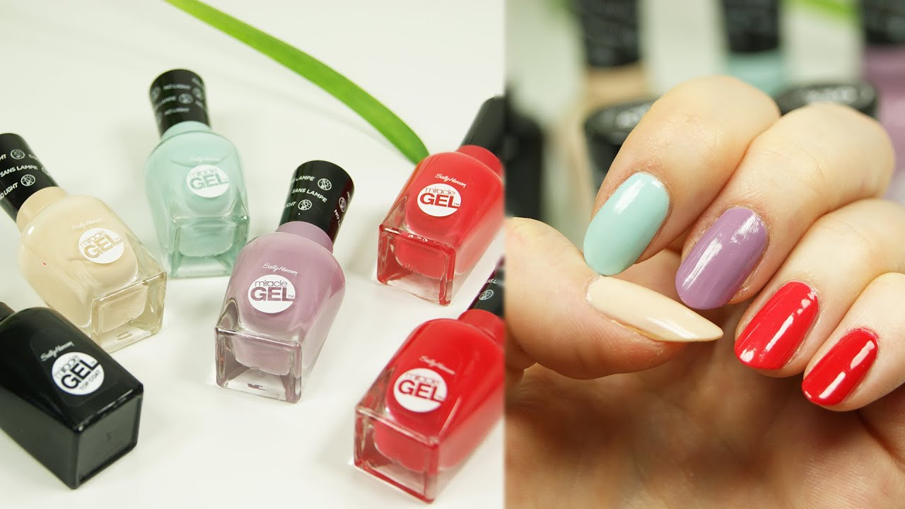 Test Lakiery Sally Hansen Miracle Gel Youtube
