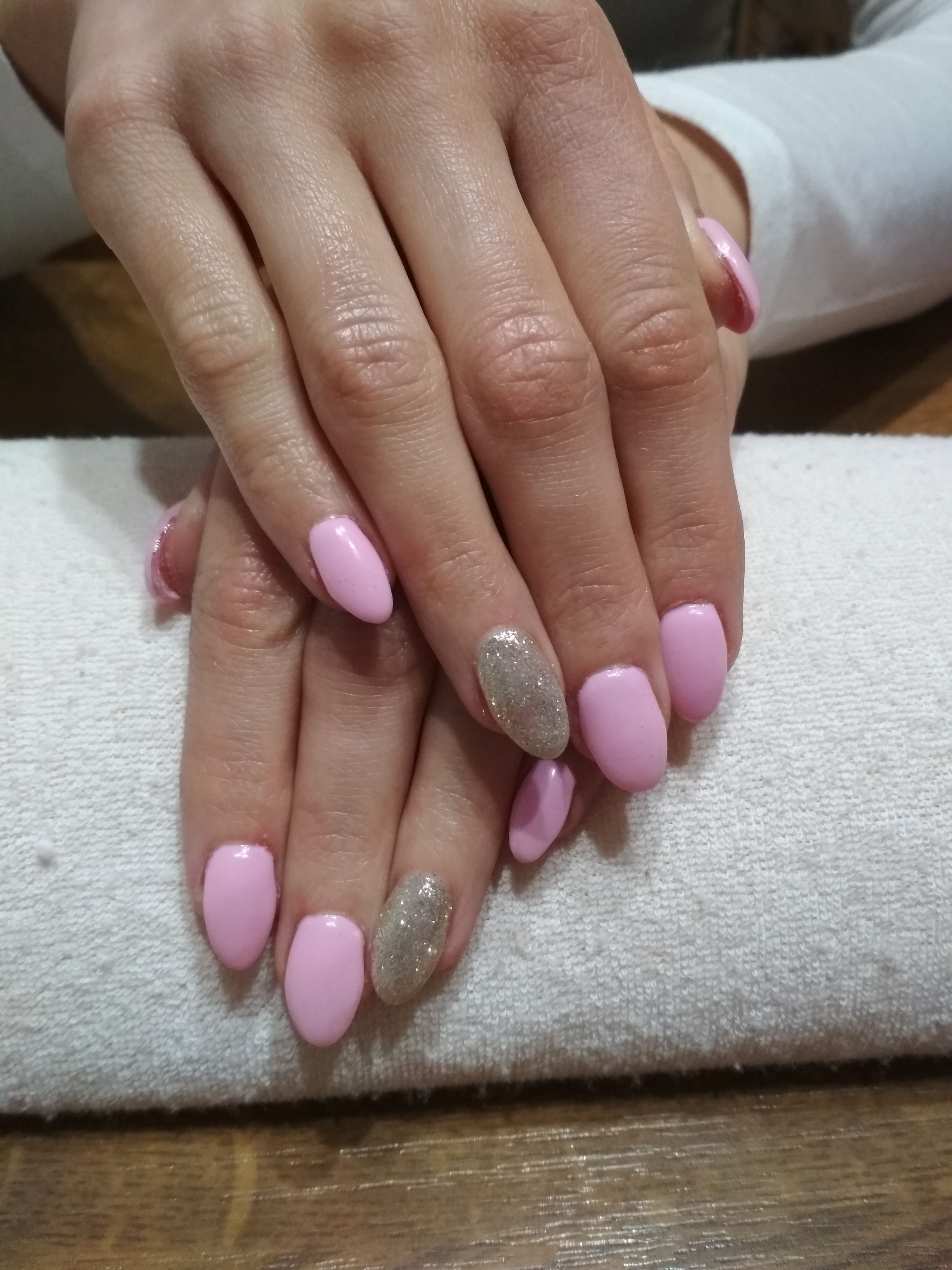 Purple Nails Purple Gel Silver Glitter Gel Nehty Gelove Nehty