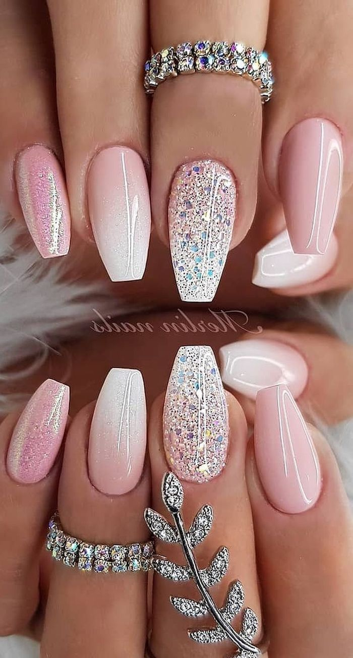 1001 Ideas For Cute Nail Designs You Can Rock This Summer With Images Ruzove Nehty Ombre Nehty Bile Nehty