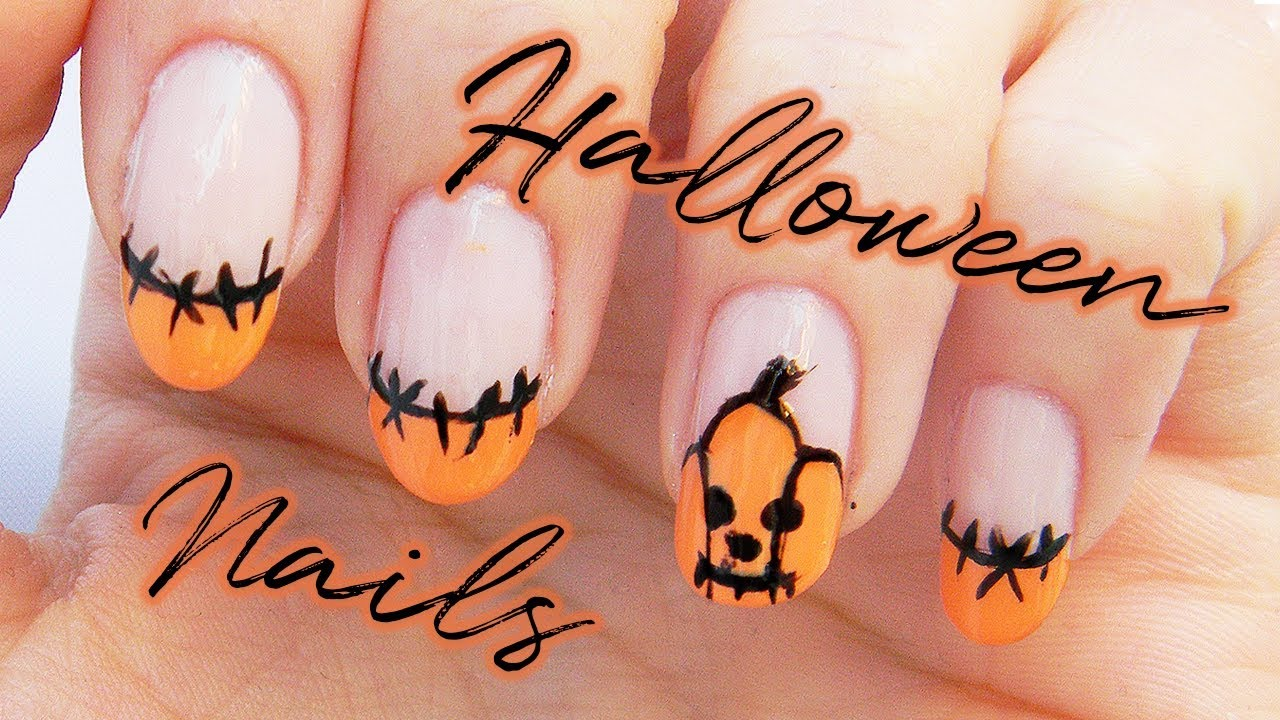 Halloweenske Nechty Halloween Nails Youtube
