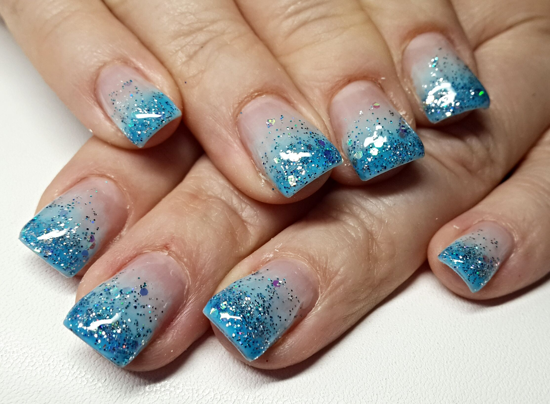 Gel Blue Nails