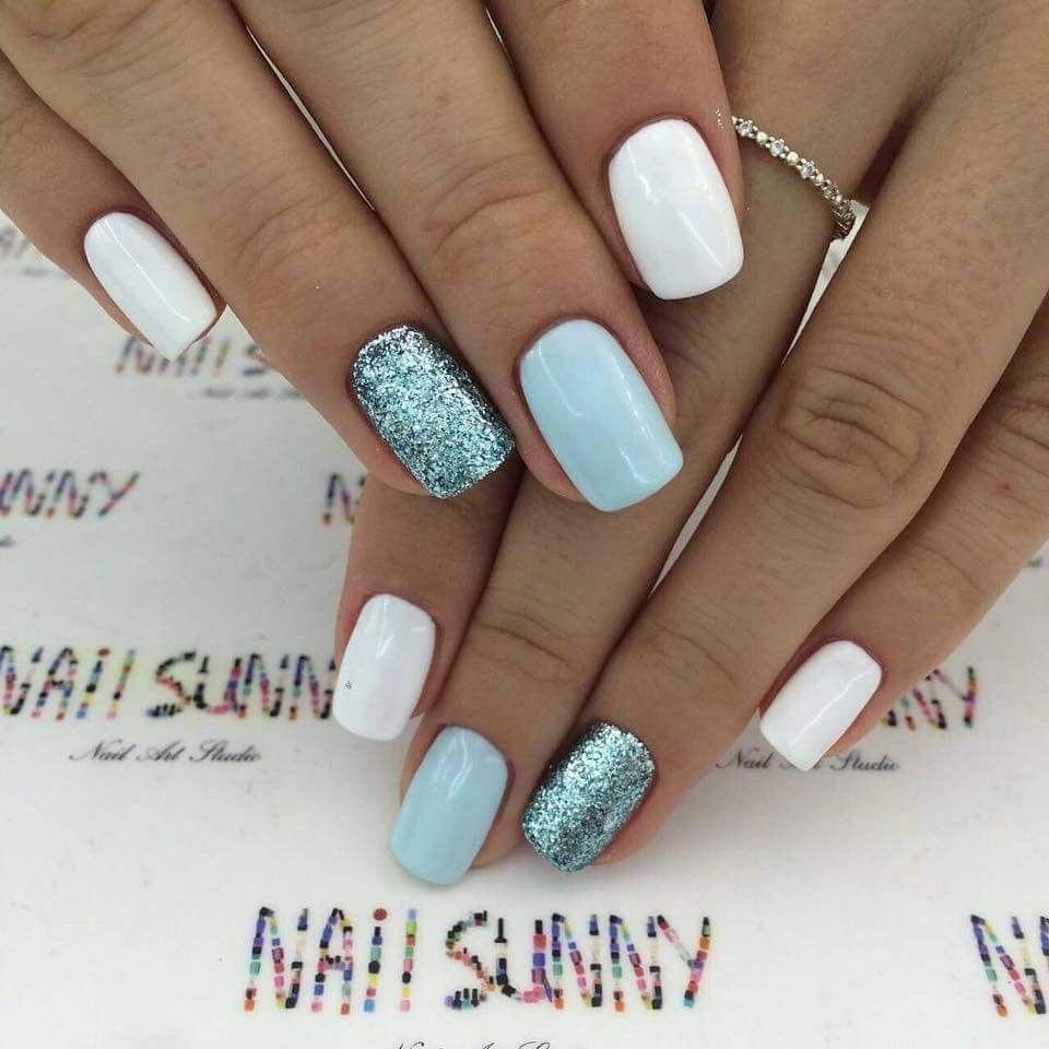 Fun Nail Art Glitter Springnaildesigns Gelove Nehty Design Nehtu A Kratke Nehty
