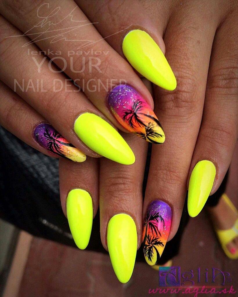 Pin By Marie Holema On Nails Yellow Nail Art Yellow Nails Yellow Nails Design