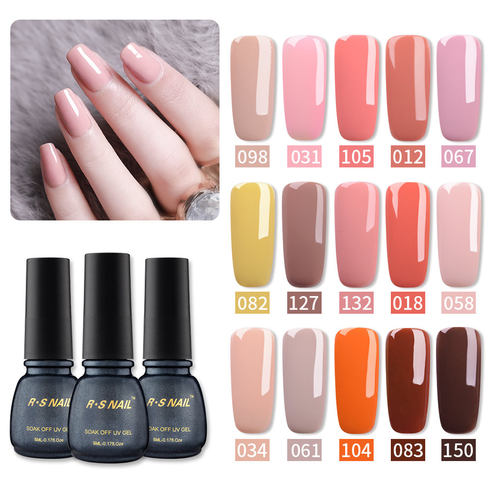 Rs Nail 5ml Uv Color Led Gel Lacquer Gel Varnish 154 Colors Nail Gel Polish Esmalte Permanente A Set Of Gel Varnish 3 On Aliexpress