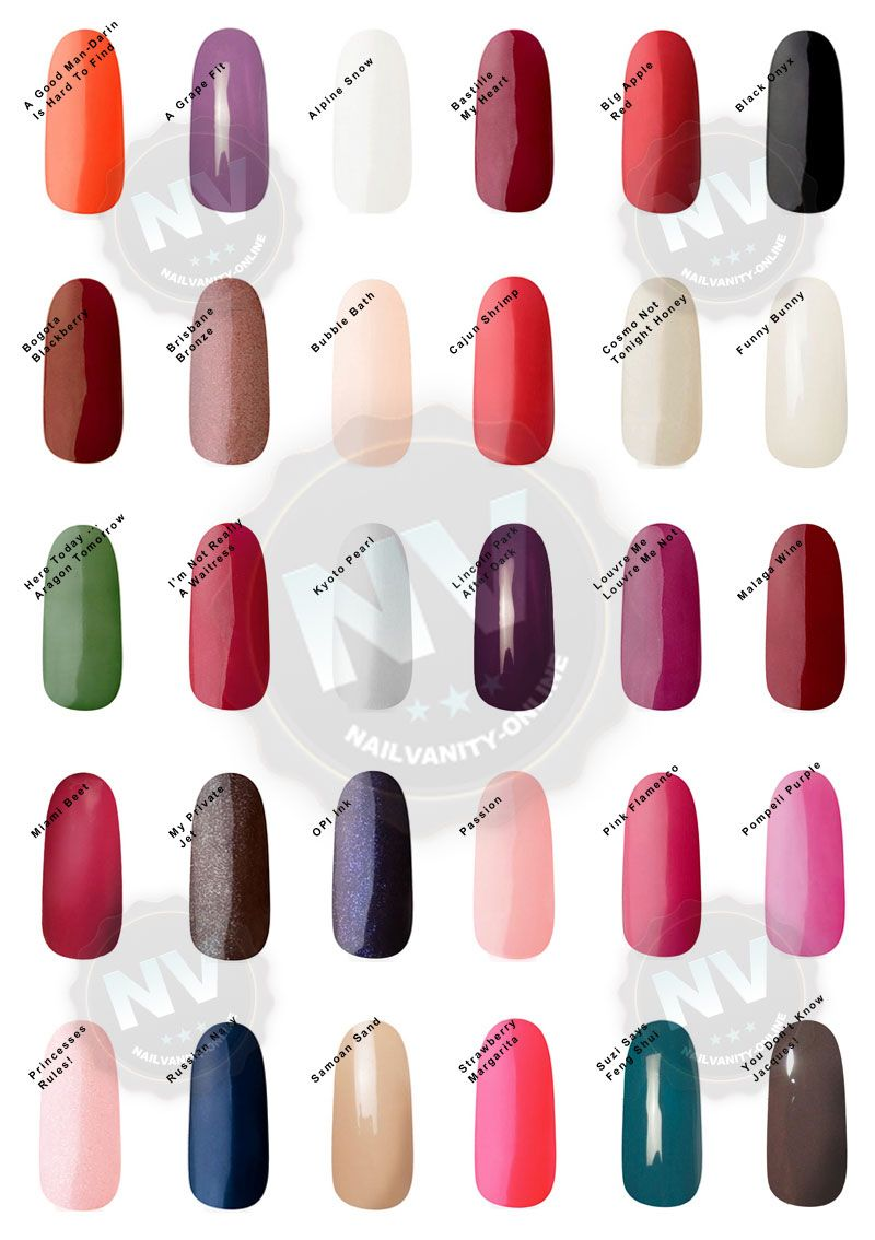 Opi Gel Polish Colors Swatches Opi Gel Nail Colors Swatches Nail Arts Nail Art Media Overview Gel Polish Colors Opi Gel Polish Opi Gel Nail Colors