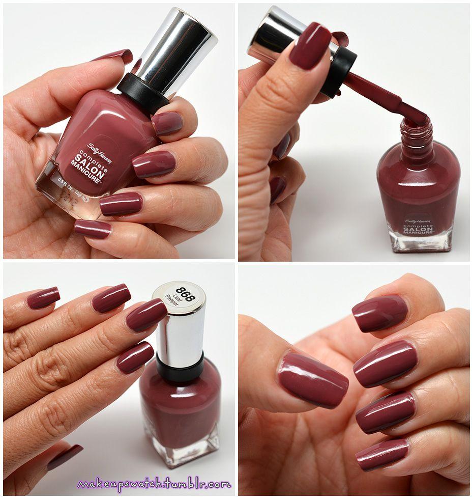 Makeupswatch Sally Hansen Nail Polish Gel Manicure Colors Gel Pedicure