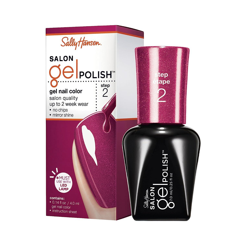 Amazon Com Sally Hansen Salon Pro Gel Wine Not 0 14 Fluid Ounce Nail Polish Beauty