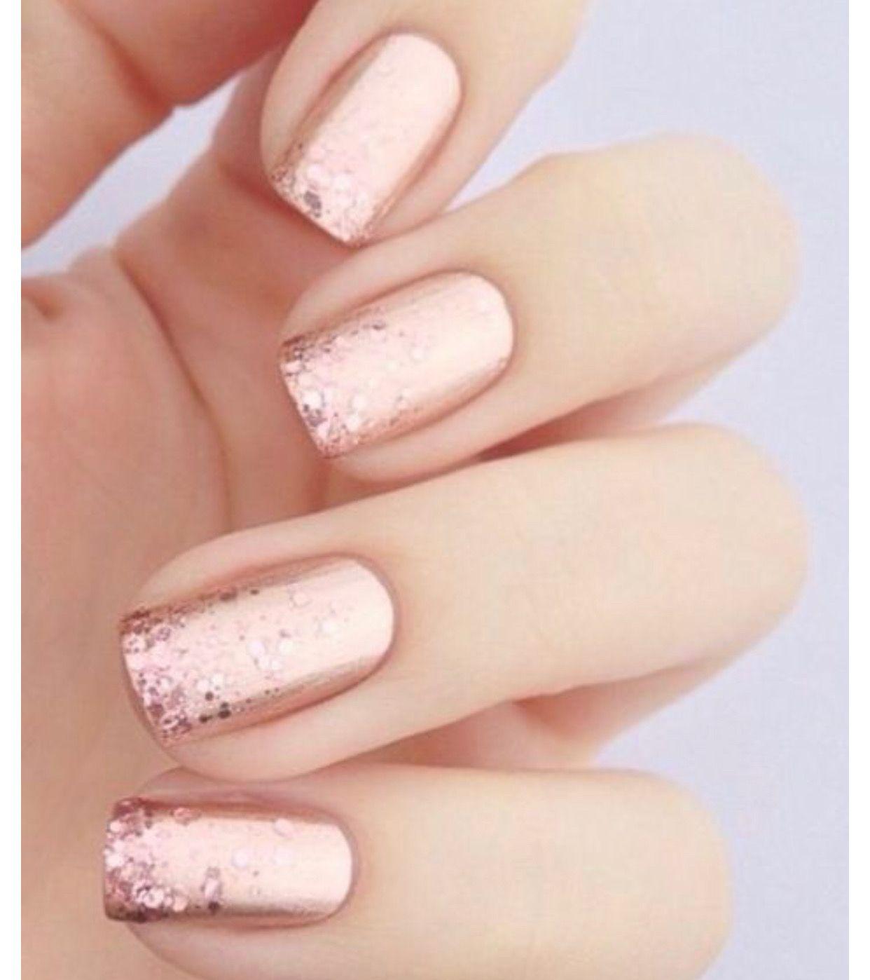 Spring 2019 Nail Trends Rose Gold Bridal Nails Designs Bride Nails Bridal Nails