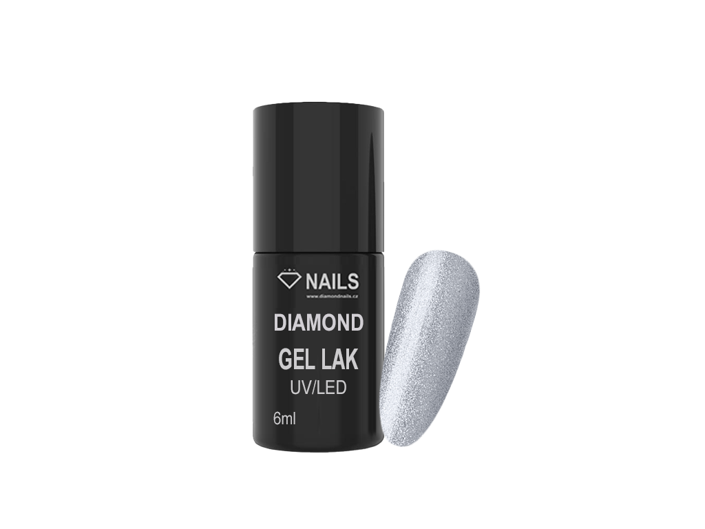 Diamond Gel Lak 012 6ml Trpytive Stribrna