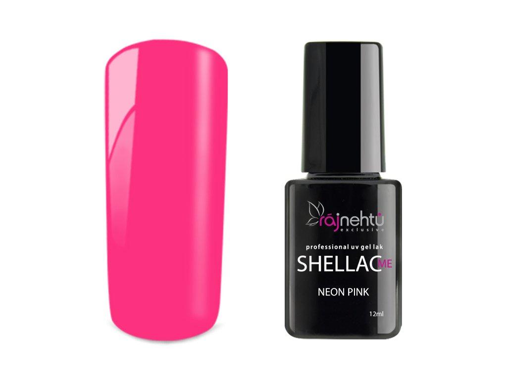 Uv Gel Lak Shellac Me 12ml Neon Pink Raj Nehtu
