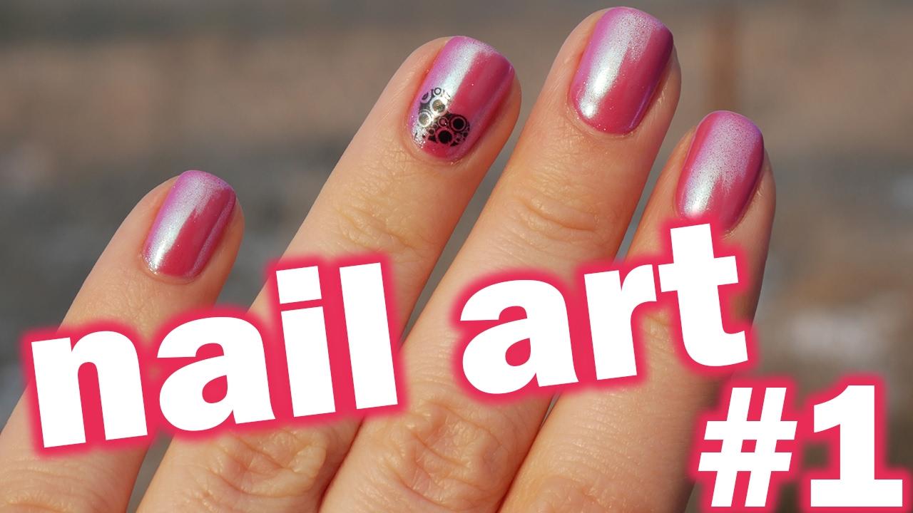 Nail Art 1 Zrcadlovy Prasek Na Nehty Vodolepky Mirror Powder Chrome Nail Youtube