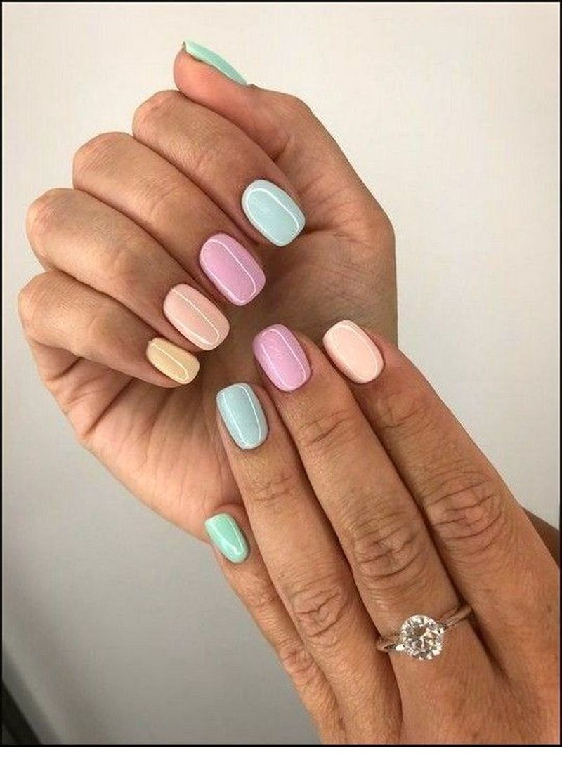 50 Wonderful Summer Nail Colors Of 2020 In 2020 Gelove Nehty Barevne Nehty Design Nehtu