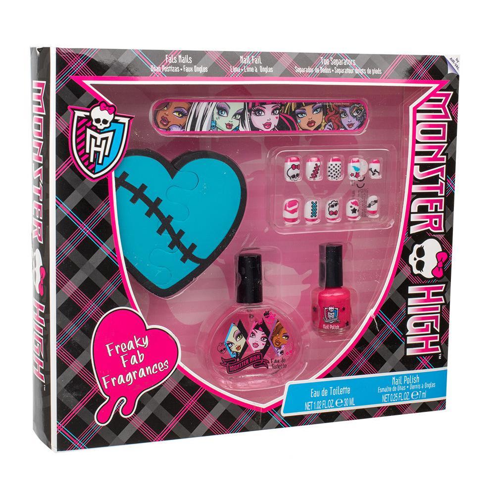 Monster High Monster High Darkova Kazeta Pro Deti Toaletni Voda 30 Ml Lak Na Nehty 7 Ml Umele Nehty Pilnik Na Nehty Oddelovac Prstu Elnino Cz