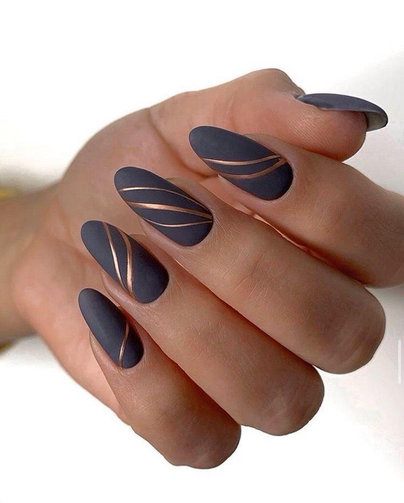 Pin By Zdenka Jecmenova On Grey Manicure Almond Acrylic Nails Stylish Nails Gorgeous Nails