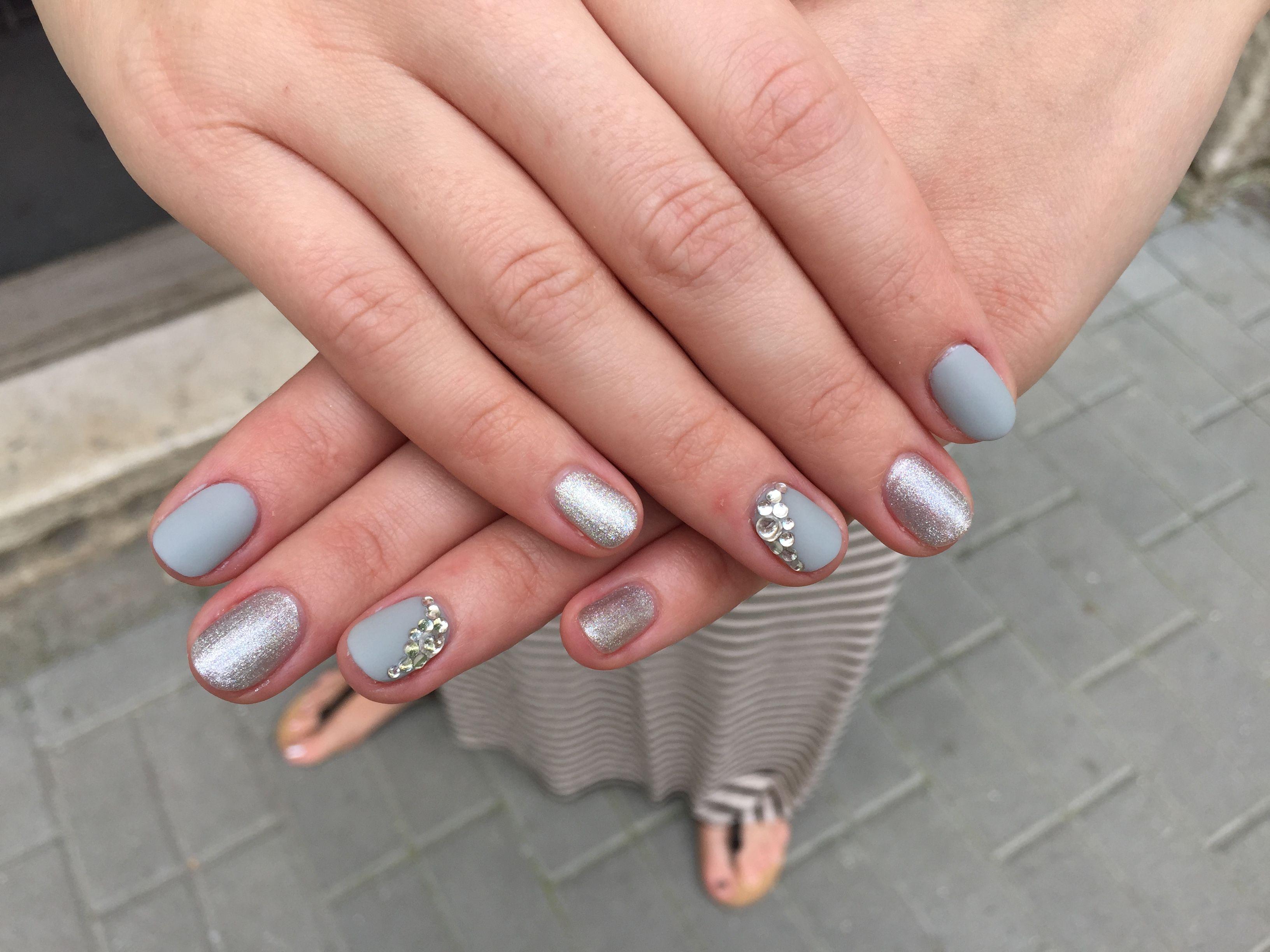 Grey Gel Lakk Nails Gray Nails Gel
