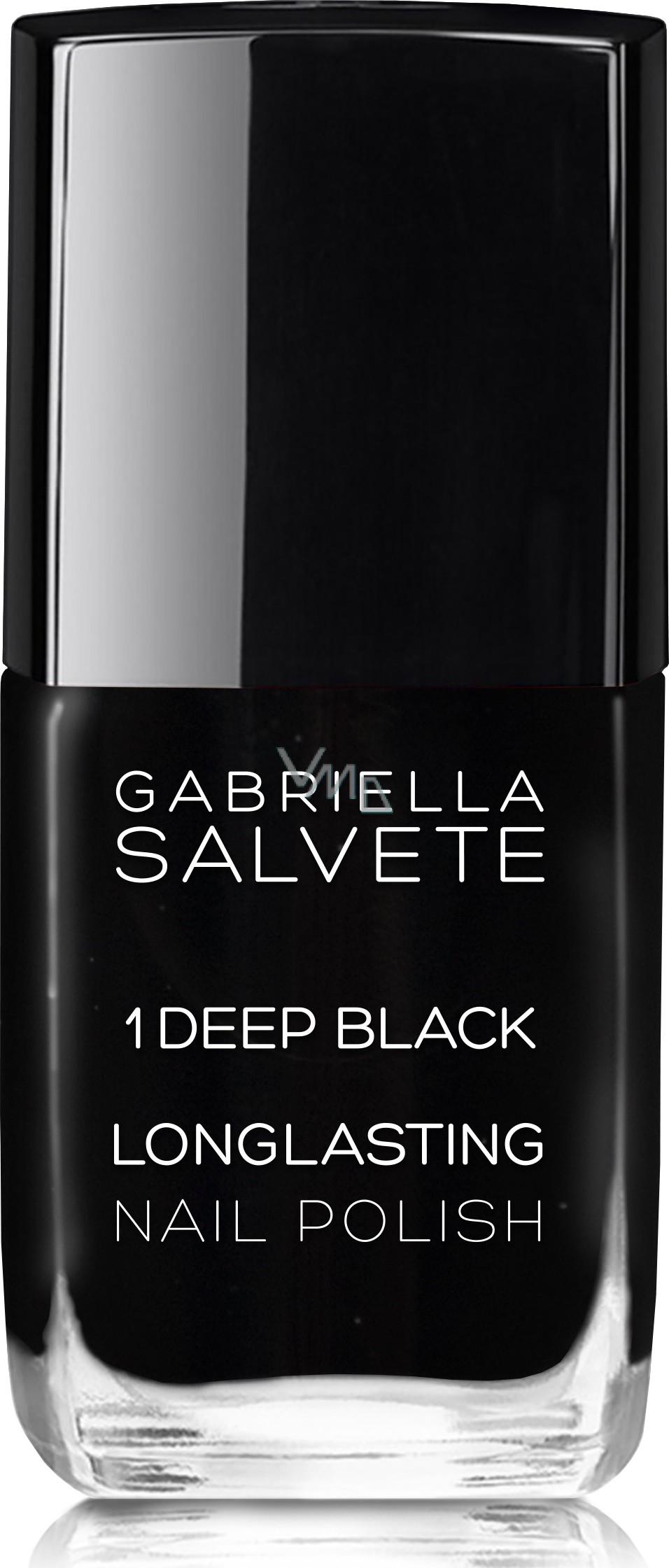 Gabriella Salvete Longlasting Enamel Nail Polish 01 Deep Black 11 Ml Vmd Parfumerie Drogerie