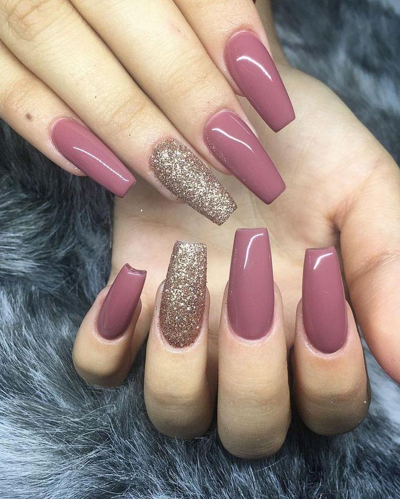 35 Glitter Nail Design To Beautify Your Style Gelove Nehty Pastelove Nehty Zelene Nehty
