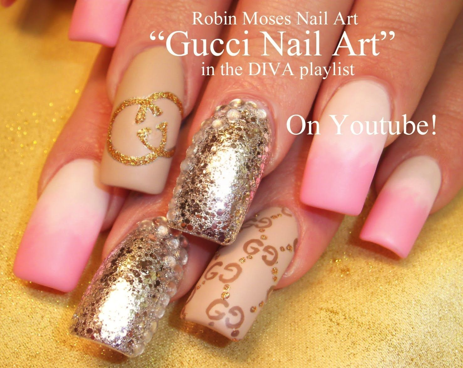 Gucci Nail Art Lv Copy