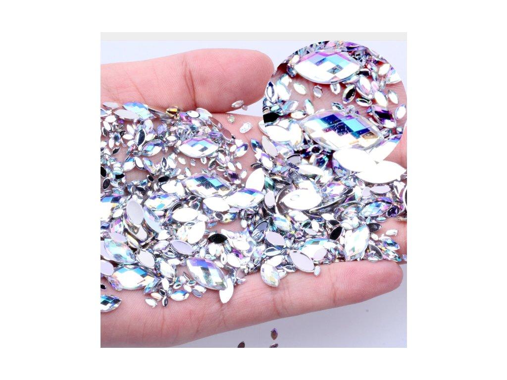 Dekoracni Kaminky Diamanty Ve Tvaru Slzy Na Nehty 100ks Flaro Cz