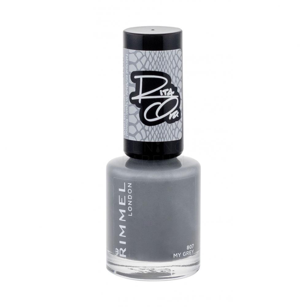 Rimmel London 60 Seconds By Rita Ora Lakier Do Paznokci Dla Kobiet 8 Ml Odcien 807 My Grey Elnino Parfum