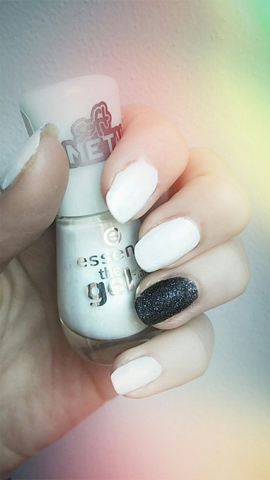 Love This Two Awesome Nailpolish Essence Soft Metal Edition Miss Sporty Crush On You 3d Texture Nails Nailpolish Fashion Cute White Black Trol