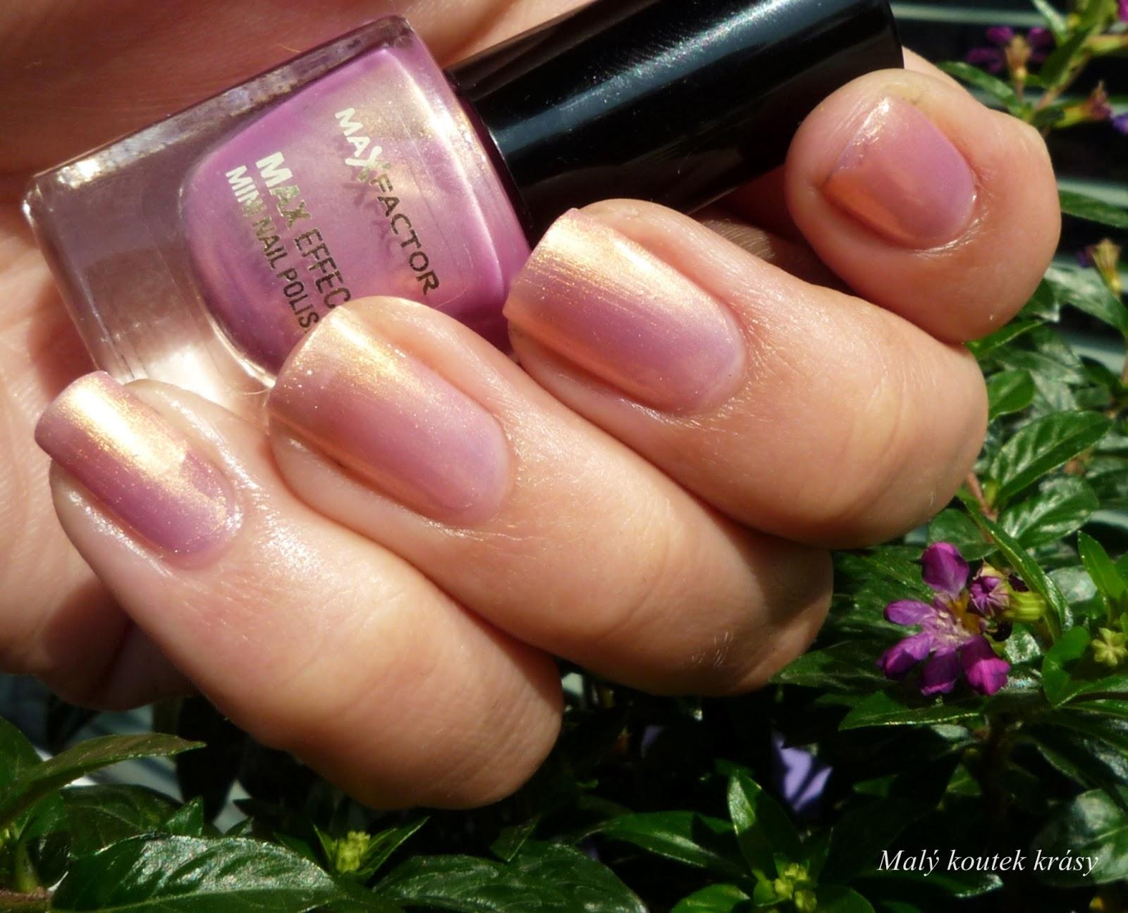 Maly Koutek Krasy Max Factor Max Effect Mini Nail Polish 05 Sunny Pink