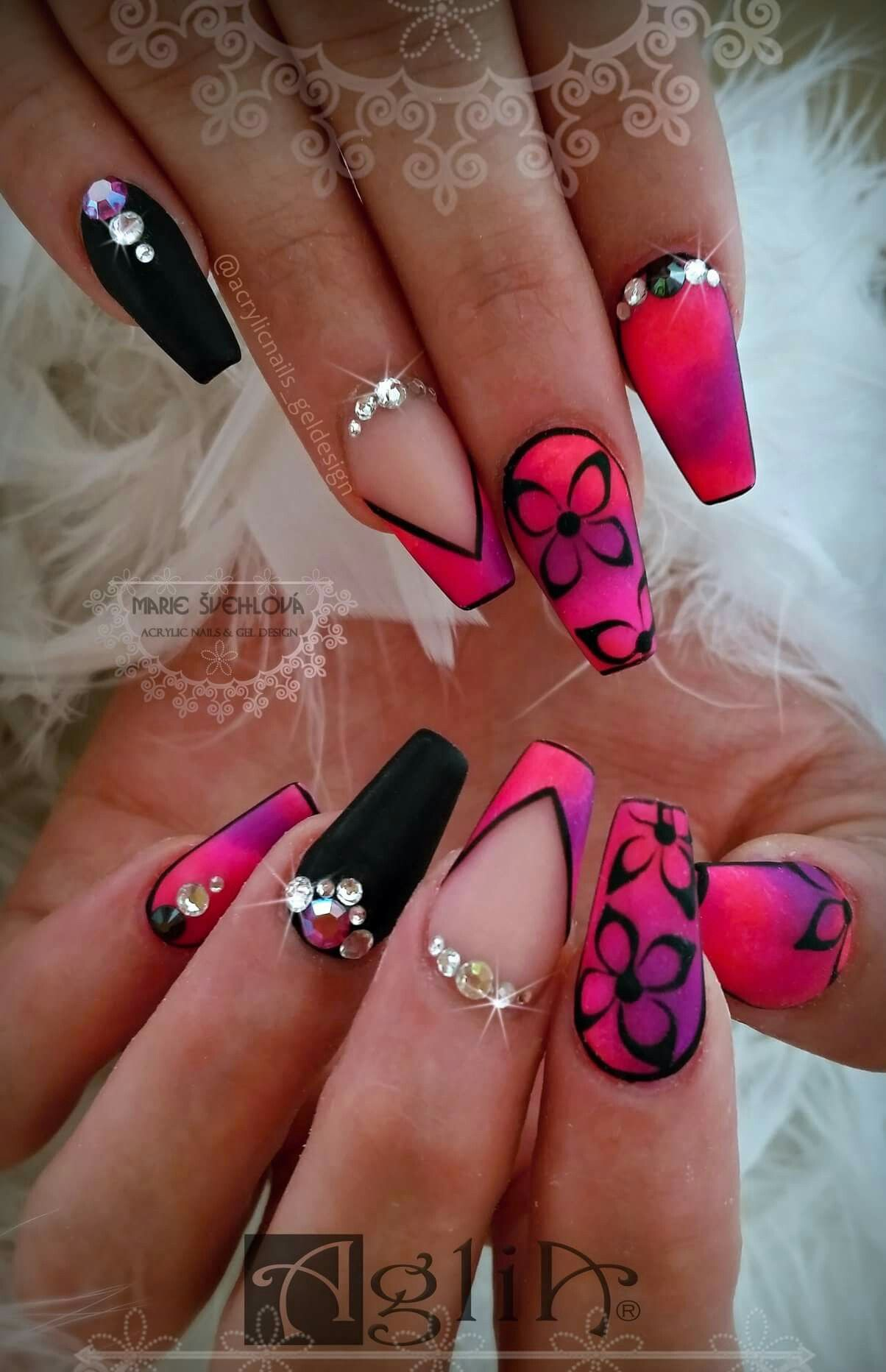 Acrylic Nails Gel Design Neon Nails Summer Nails Gelove Nehty Nail Art Nehty