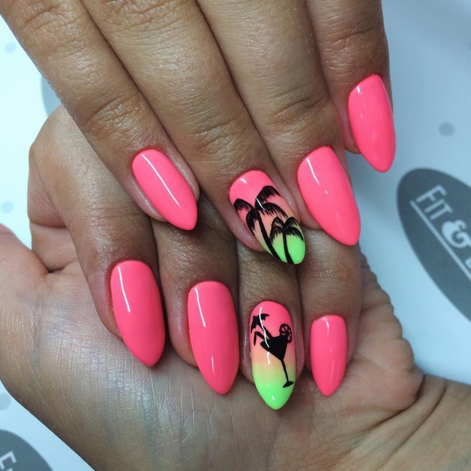 Summer Nails Palm Tree 3 Beach Nails Palm Tree Nails Palm Nails