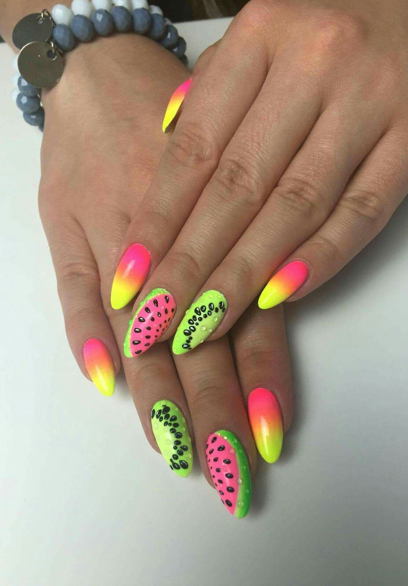Pin By Naninails On Summer Nail Art Gelove Nehty Nail Art Nehty