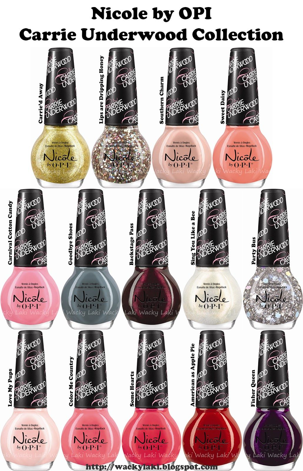 Wacky Laki Press Release Nicole By Opi Carrie Underwood Collection