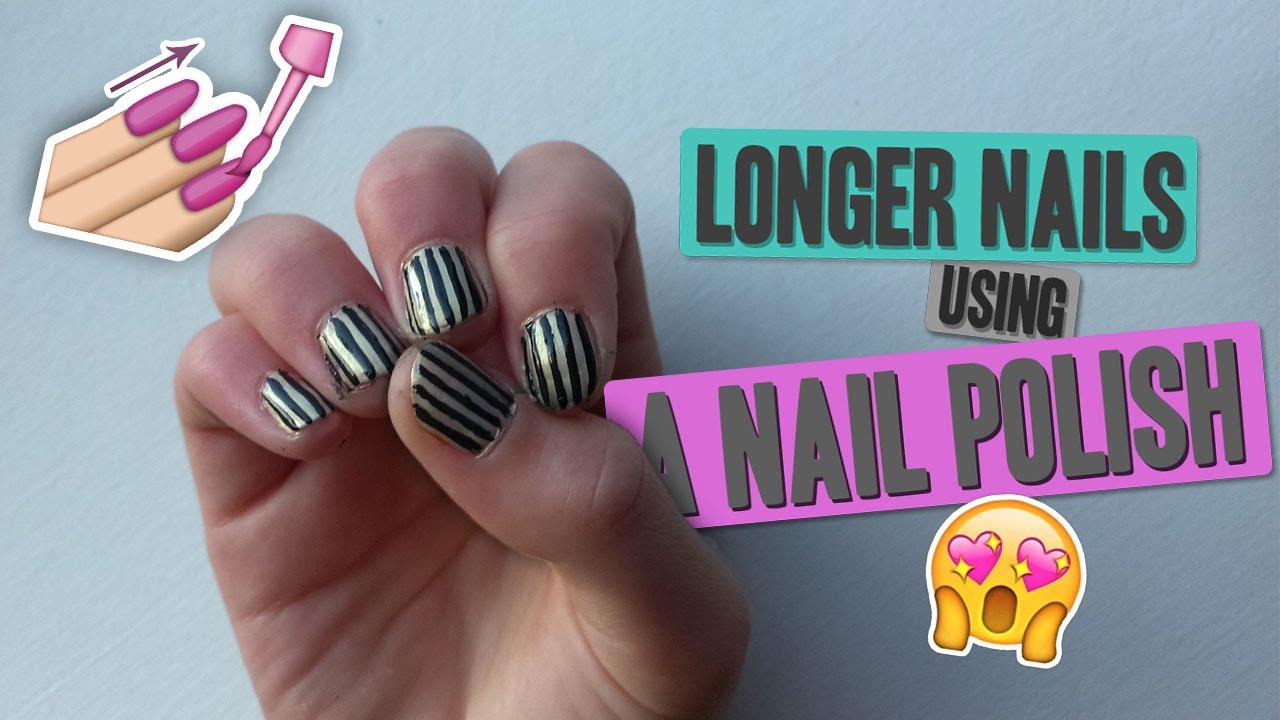 Opticke Prodlouzeni Nehtu Cernobile Nehty Longer Nails Using A Nail Polish Lucius2125 Youtube