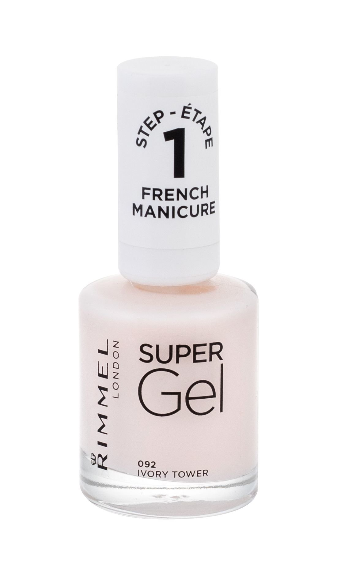 Rimmel London Super Gel French Manicure Step1 092 Ivory Tower Lak Na Nechty 12ml Parfumela Sk