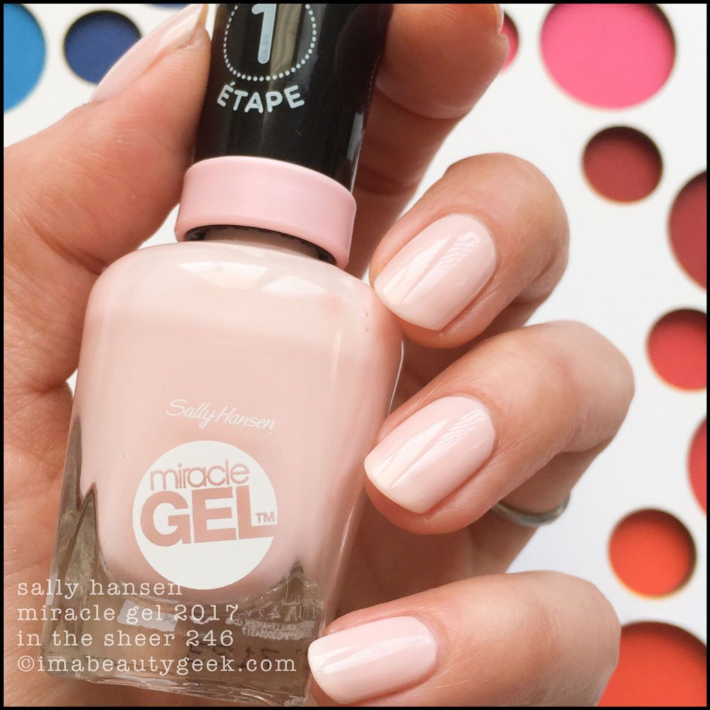 Sally Hansen French Romance Miracle Gel Swatches Fall 2017 Sally Hansen Miracle Gel Sally Hansen Gel Nails Miracle Gel
