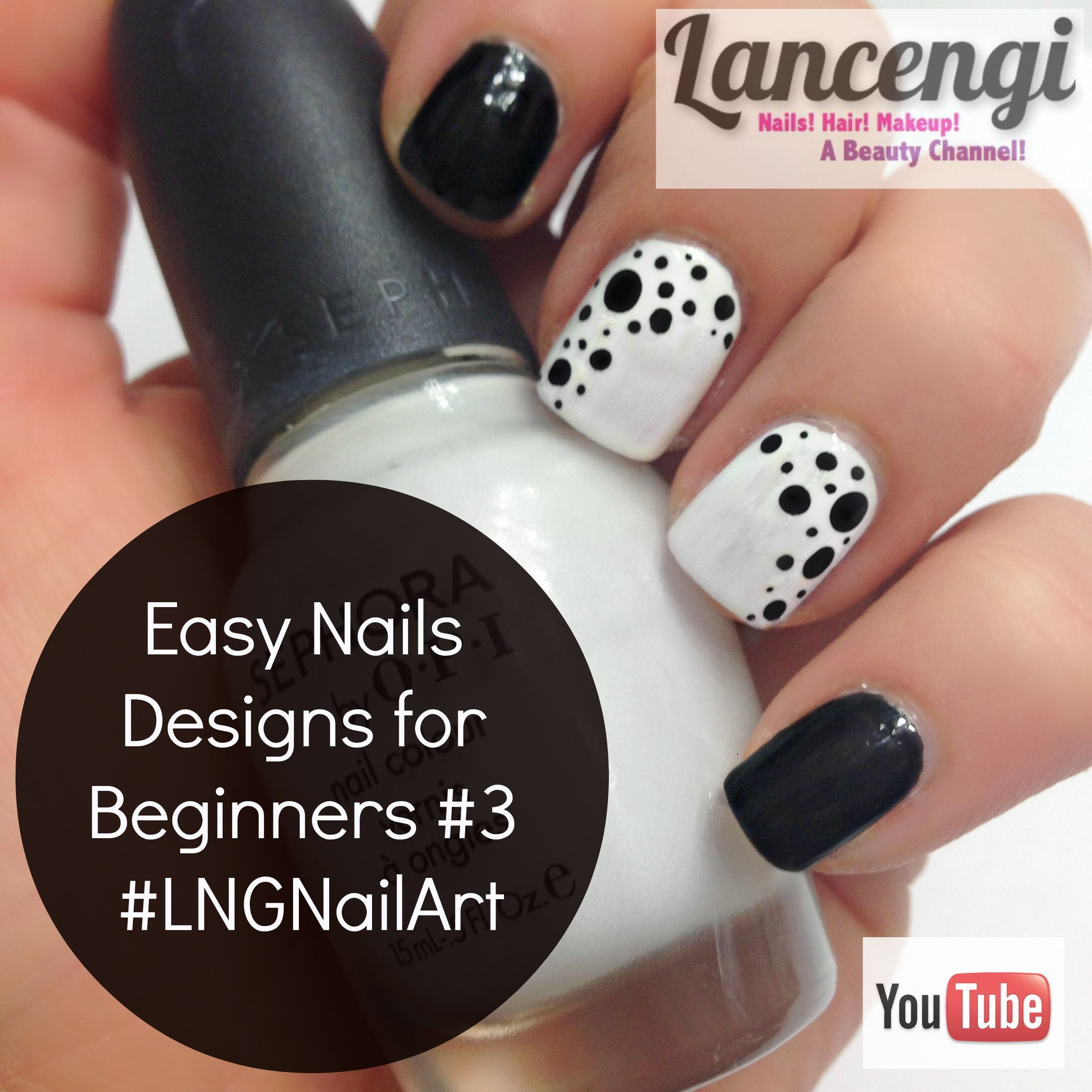 Easy Nail Art For Beginners 3 Classic Edition Do You Love Easy Nail Art For Short Nails Check Out This Simple Poke A Dot Nail Desi Nehty Uprava Nehtu Krasa