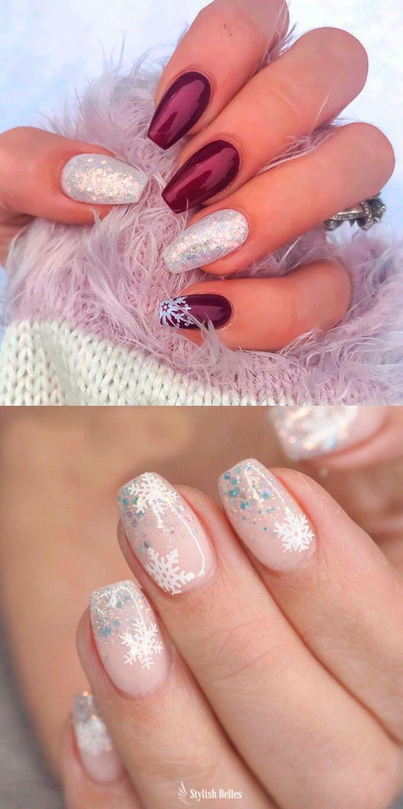 The Cutest And Festive Christmas Nail Designs For Celebration Gelove Nehty Barevne Nehty Design Nehtu