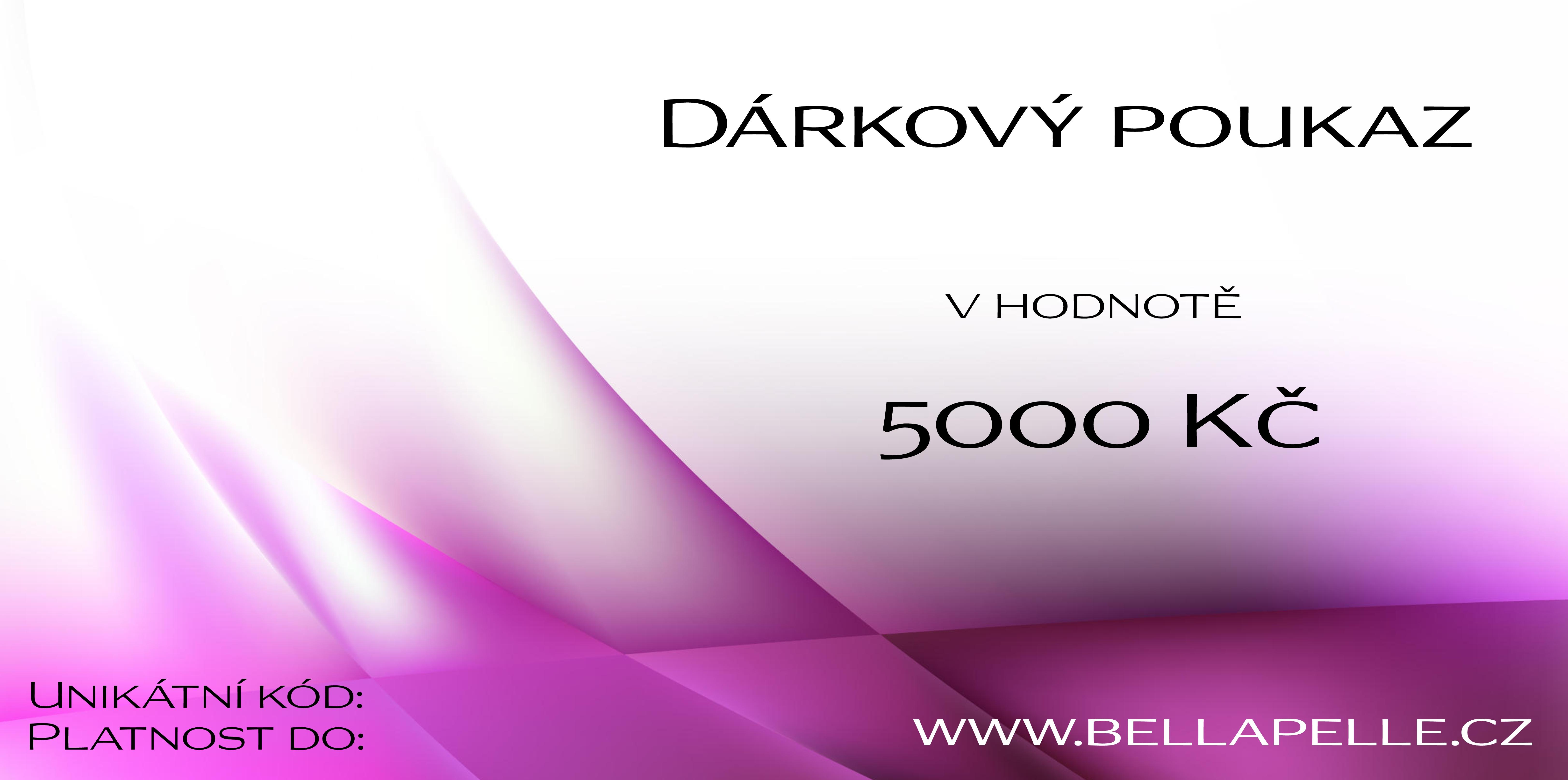 Darkove Poukazy Darkovy Poukaz V Hodnote 5000 Kc Bellapelle Cz E Shop Kosmeticka Pece