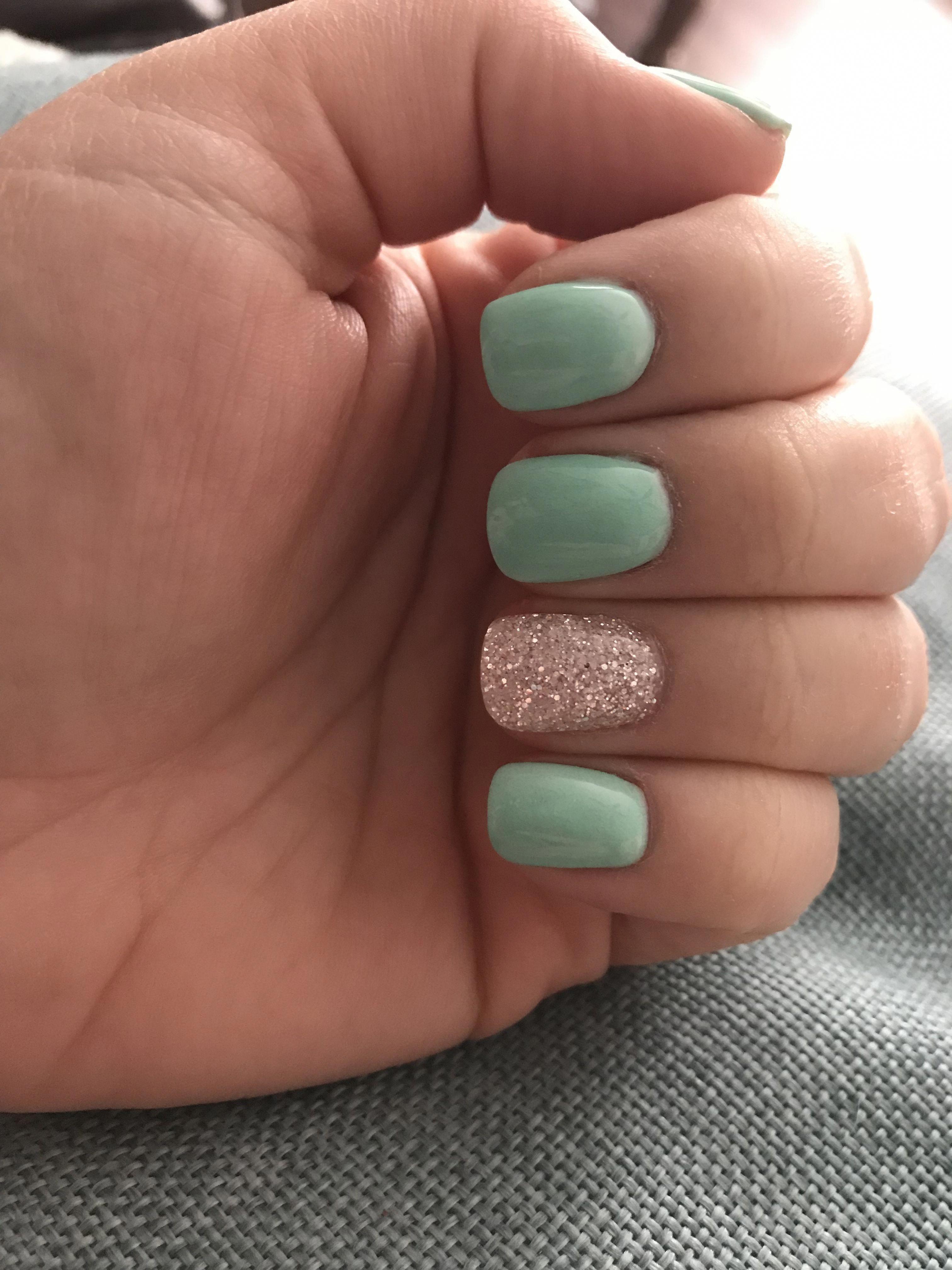 Mint Nails Dipped Nails Glitter Geekynailsdesigns Design Nehtu Nehty Design