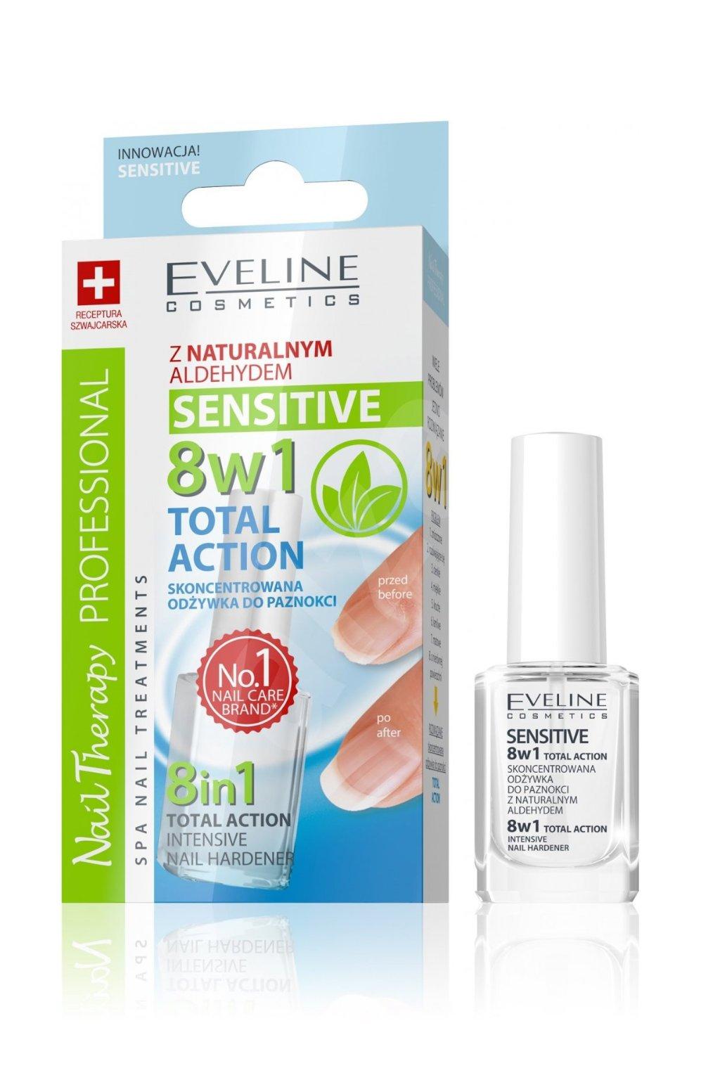 Eveline Cosmetics Total Action 8v1 Nail Hardener Lilite