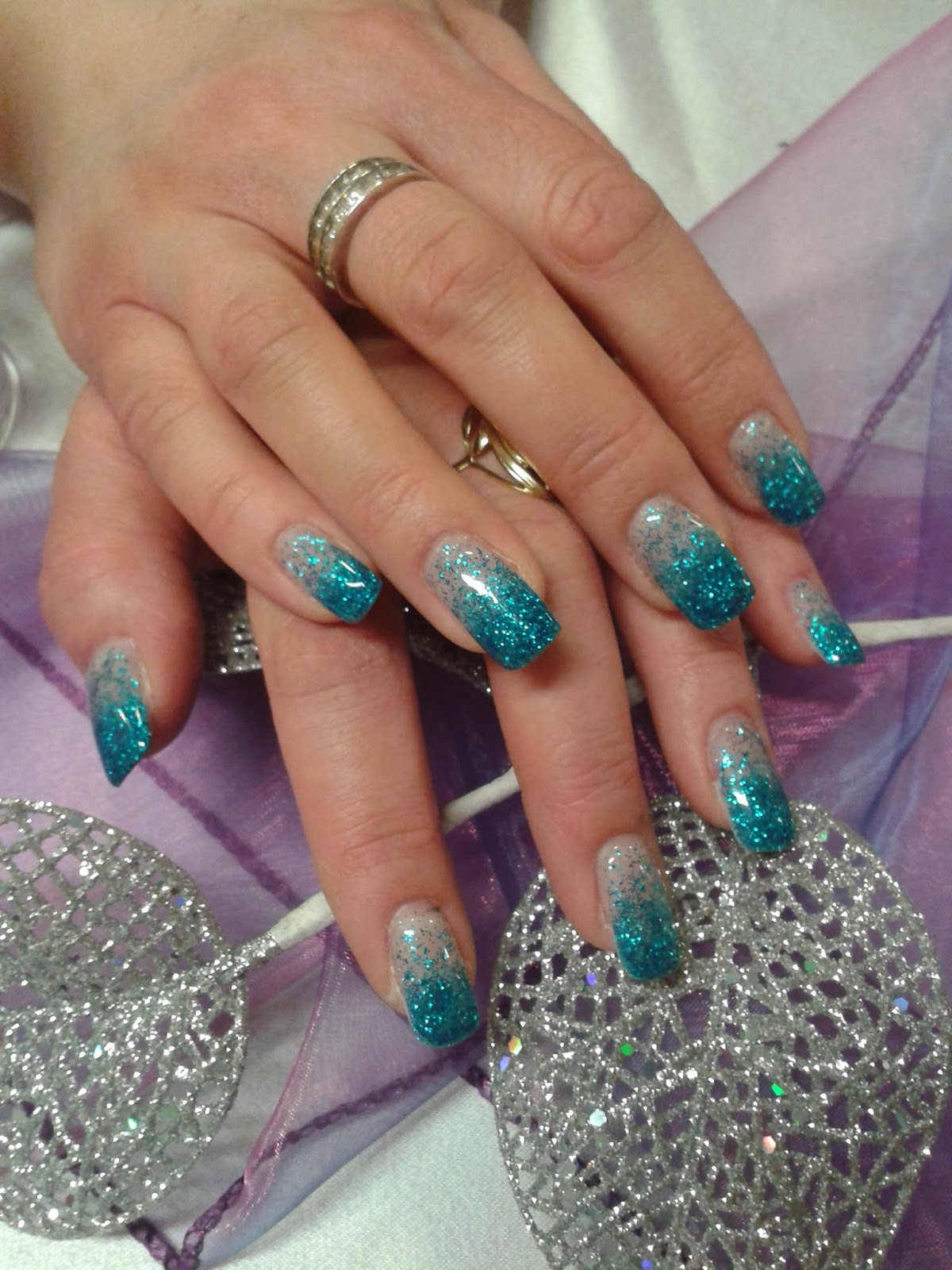 Turquoise Gel Nails Angelina Beauty Blogger
