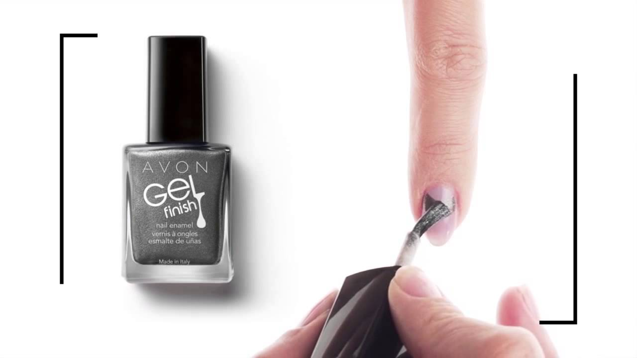 Avon Gel Finish Laki Za Nohte Ustvarite Polmesec Youtube