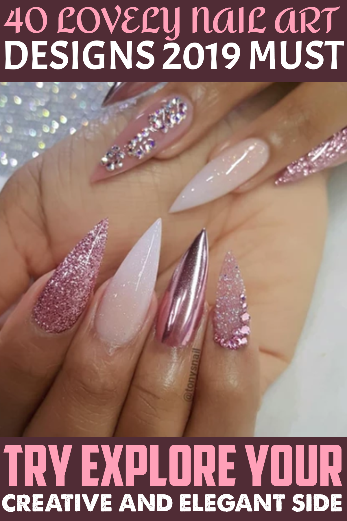 40 Lovely Nail Art Designs 2019 Must Try Explore Your Creative And Elegant Side Ruzove Nechty Nechtovy Dizajn Letne Nechty