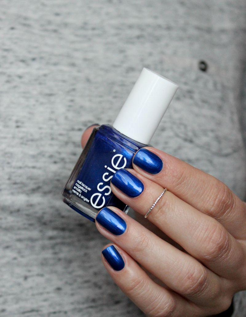 Pin By Auby On Nails Metallic Blue Nails Essie Nail Polish