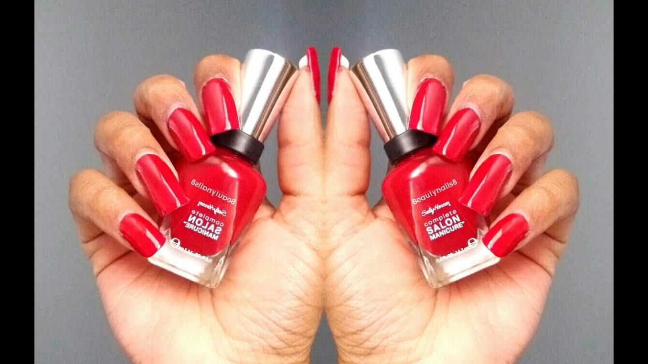 Sally Hansen Swatch Red Handed 575 Youtube