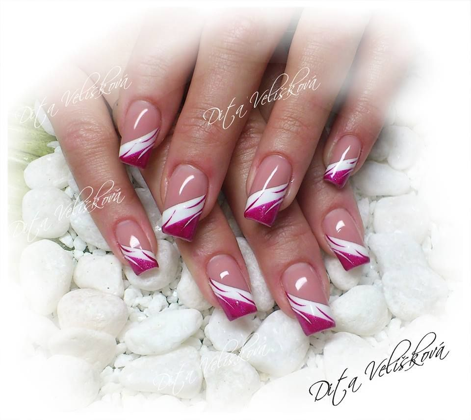Pin By Dita Veliskova On Dita Nails Elegant Nails Nail Designs French Tip Nails