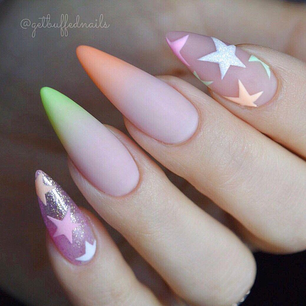 Pin By Naninails On Long Nails Nail Art Dlouhe Nehty Manikura Nehty